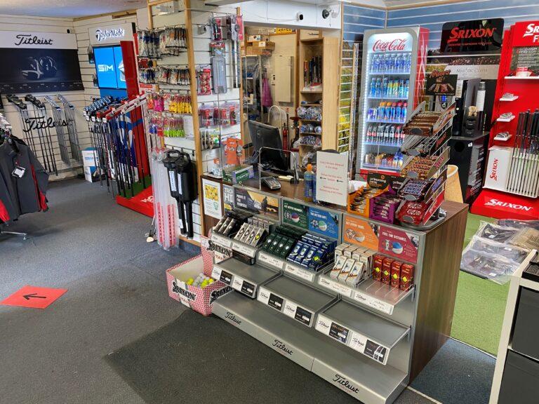 The pro shop at Tidworth Garrison Golf Club